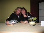 Lynne and Bobbi hamming it up at registration